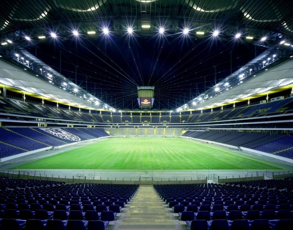 Commerzbank-Arena Innenraum aus d. Osttribüne
