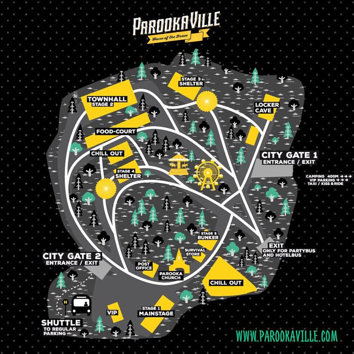 Parookaville Map
