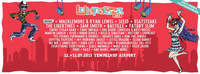 Lollapalooza Berlin Line up