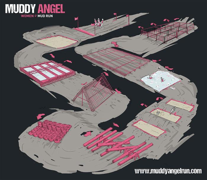Muddy Angel Run 2017 Map
